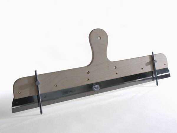 Zahnleisten-Rakel, rostfrei, mit verstellbaren Stiften